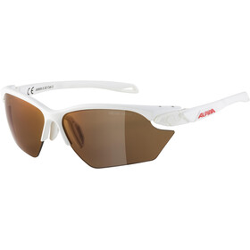 Alpina Twist Five HR S HM+ Glasses, white matt/red mirror